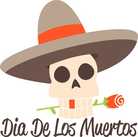 all saints day: Celebrate the Dia de los Muertos in style Day of Dead. Have fun and get the celebration rolling Illustration
