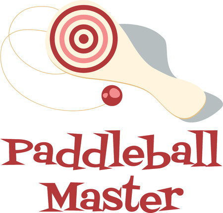 Paddleball has become a favorite beach activity in the summer months that can be enjoyed with as few as two people. Ilustração