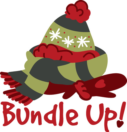 muff: These winter clothes are perfect for the cold  wet seasons. With this design by embroidery patterns. Illustration