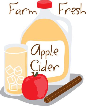 Grijp de gezonde voordelen van rauwe appels met dit ontwerp door borduurpatronen. Stock Illustratie