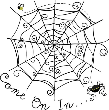 crawly: Trick or Treat Set a spooky mood with this creepy crawly spider image from Embroidery patterns.