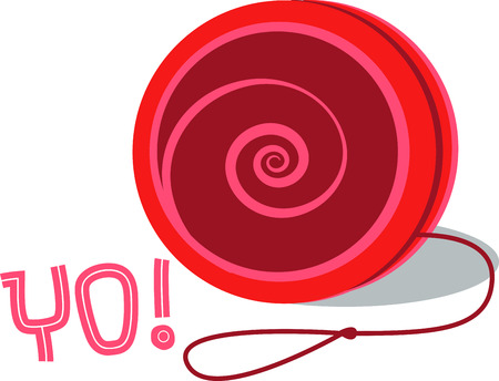 yoyo: A yoyo is a toy which in its smplest form played by holding the free end of the string Illustration
