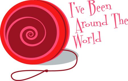 playthings: A yoyo is a toy which in its smplest form played by holding the free end of the string Illustration