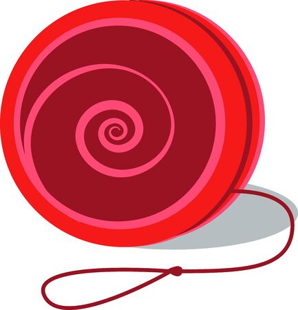 A yoyo is a toy which in its smplest form played by holding the free end of the string Иллюстрация