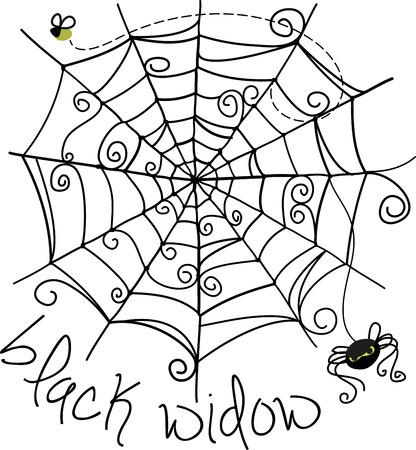 creepy crawly: Trick or Treat Set a spooky mood with this creepy crawly spider image from Embroidery patterns.