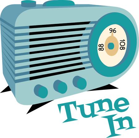 electrical appliance: Stream tus emisoras favoritas con este dise�o por dise�os de bordado. Vectores