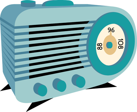 electrical appliance: Stream your favorite stations with this design by embroidery patterns.