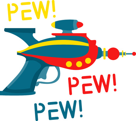 scifi: ray gun is a toy gun that creates a loud sound simulating a gunshot and a puff of smoke when the trigger is pulled pick those design by embroidery patterns. Illustration