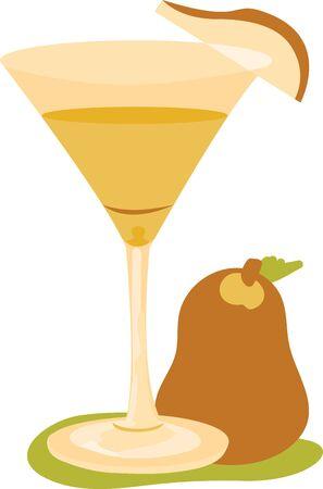 美味しい新鮮な味のマティーニ。ウォッカと梨の味のようなものが好きな人に最適です。