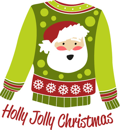 kris: Get  Santa  sweaters to keep you looking hot when its cool out.with this design by embroidery patterns