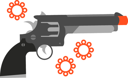 gunshot: A cap gun is a toy gun that creates a loud sound simulating a gunshot and a puff of smoke when the trigger is pulled pick those design by embroidery patterns.