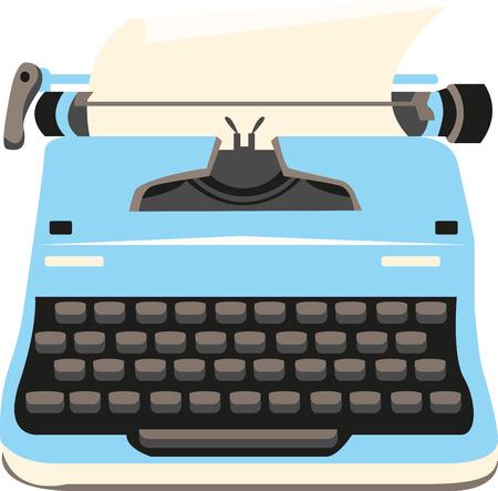 type writer: Macchina da scrivere � uno strumento molto importante, che ha gettato le basi di epoca moderna Vettoriali