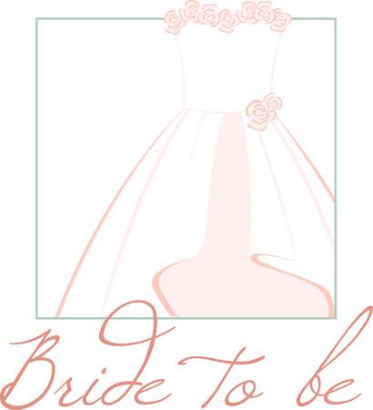 一見エレガント刺繍パターンによって設計されたこのブライダル ドレスと結婚式のあなたの特別な日に
