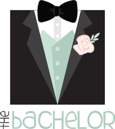 nuptials: Celebrate the precious day of your wedding with this Grooms designed by Embroidery patterns Illustration