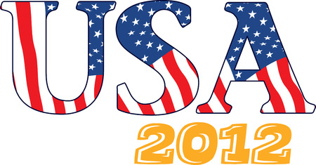 Collect the colorful USA flag. Pick those design by embroidery patterns. Ilustração