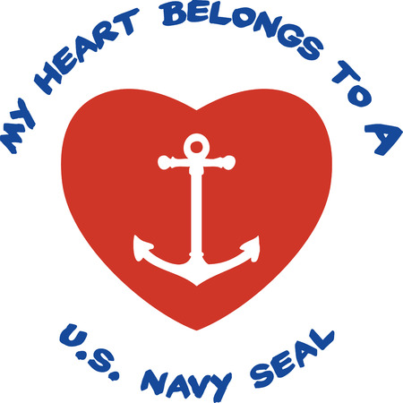 Choose your favorite Navy seal heart designs in your collections from Embroidery patterns Stok Fotoğraf - 41520297