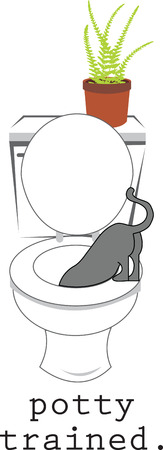 flowerpots: You can train your kitty to pee at the potty with this design by Embroidery patterns