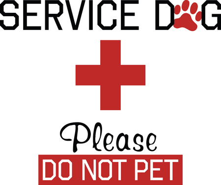 Customize gifts for service dogs with this design on canine fashion apparel and bedding.