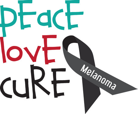 melanoma: Support Melanoma awareness and treat the most common disease in United States. Save your skin with this design by Embroidery patterns Illustration