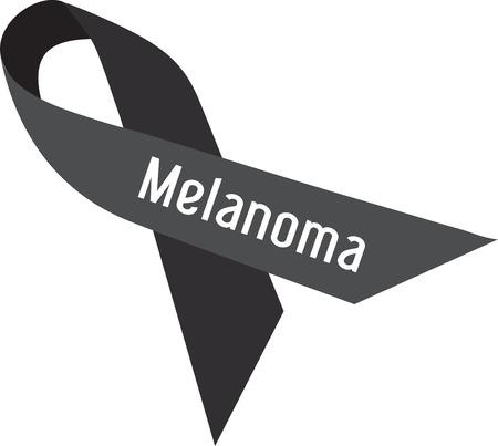 Ondersteunen Melanoma voorlichting en behandeling van de meest voorkomende ziekte in de Verenigde Staten. Sla uw huid met dit ontwerp door Borduurpatronen Stockfoto - 41520194