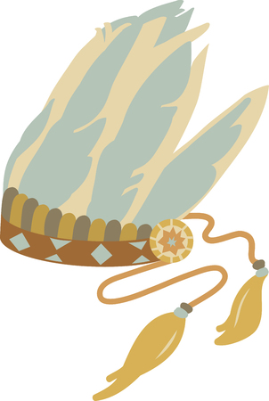 indian brave: Fly far and enjoy the carefree spirit of the feather with this Native inspired design on your indoor projects Illustration