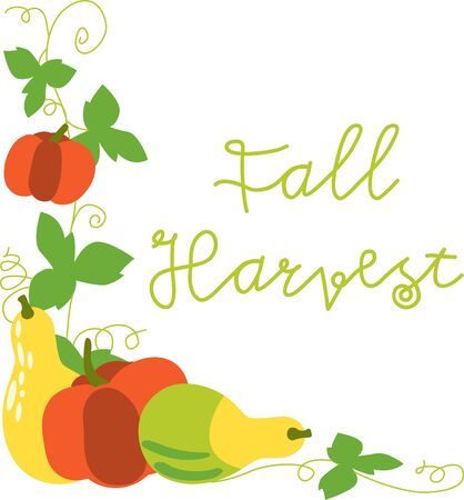 fall harvest: This festive fall harvest design is perfect on gifts table runners kitchen linens home decor and on all things Thanksgiving
