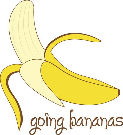 weegbree: Versier je huis met de warme gloed van banaan en voeg een tropische smaak aan uw projecten met dit gewaagde en mooi design. Stock Illustratie