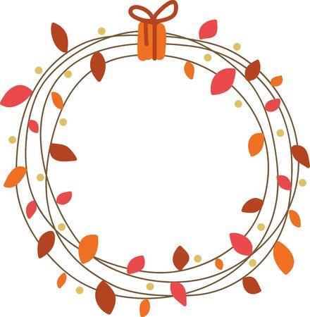 계절이 바뀝니다. 옷의 테이블 보 냅킨과 선물에이 디자인으로 가을의 화려 함을 경험하십시오. 일러스트
