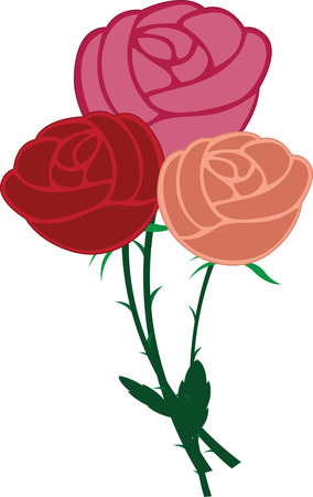 matter: No matter what the reason or occasion might be roses say it the best.  Make someone feel loved with this design on your gifts for them Illustration