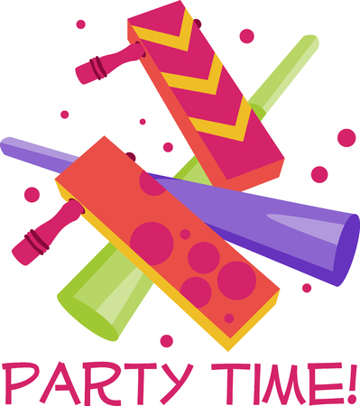 Party time Noisemakers make the perfect party favor for any party. Celebrate with this design by Embroidery patterns