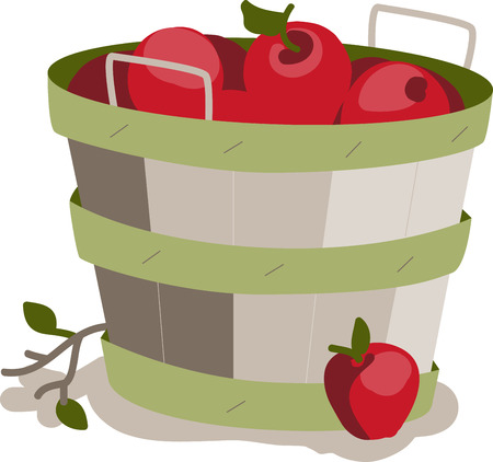 Apples are a perennial fall favorite.  Get the flavors of the season into your home projects with this design Ilustração