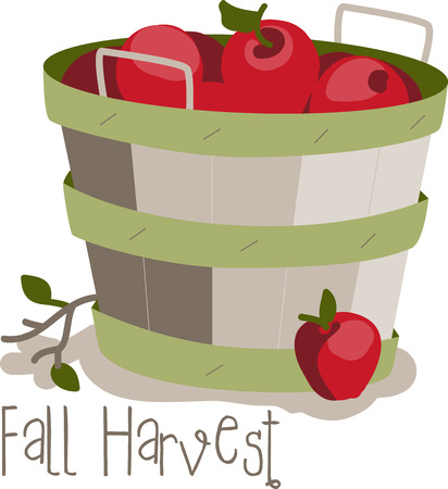 Apples are a perennial fall favorite.  Get the flavors of the season into your home projects with this design Illustration
