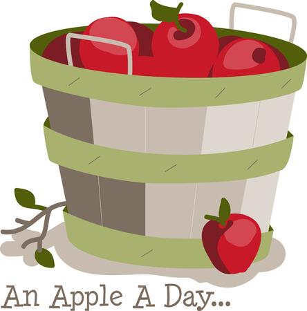 Apples are a perennial fall favorite.  Get the flavors of the season into your home projects with this design Ilustracja