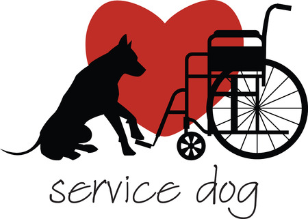 canine: Customize gifts for service dogs with this design on canine fashion apparel and bedding.