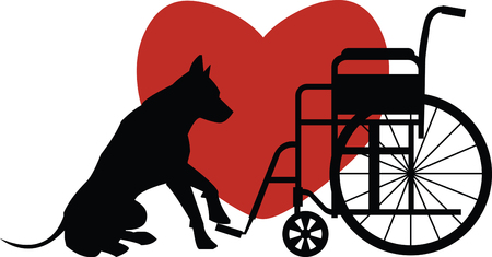 bedding: Customize gifts for service dogs with this design on canine fashion apparel and bedding Illustration