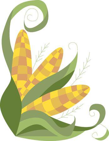옥수수 수확기 의복 테이블 보 냅킨과 선물에이 디자인으로 가을의 화려 함을 경험하십시오. 일러스트