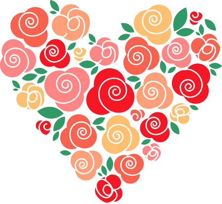 Roses of red grow in my heart and they will never wither. Pick those designs by embroidery patterns. Vector