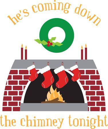 Bringt Ihnen eine Zusammenfassung der besten Weihnachtsgirlande Dekorationen für den Kamin und Treppen Standard-Bild - 41520056