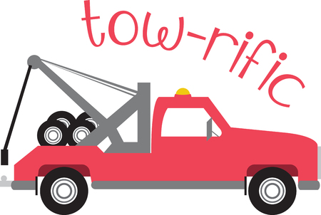auto service: Cool  Tow Truck Designs on various accessories brought to you by Embroidery Patterns