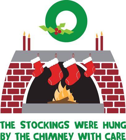 Bringt Ihnen eine Zusammenfassung der besten Weihnachtsgirlande Dekorationen für den Kamin und Treppen Standard-Bild - 41520014