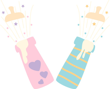 pediatric: Feed your baby with a natural and safe way with this design by Embroidery patterns Illustration