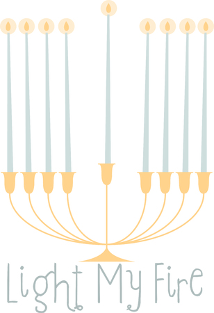 dedication: Jews all over the world celebrate Chanukah by lighting candles on the Chanukah Menorah. Illustration