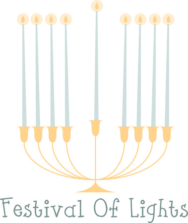 jews: Jews all over the world celebrate Chanukah by lighting candles on the Chanukah Menorah. Illustration