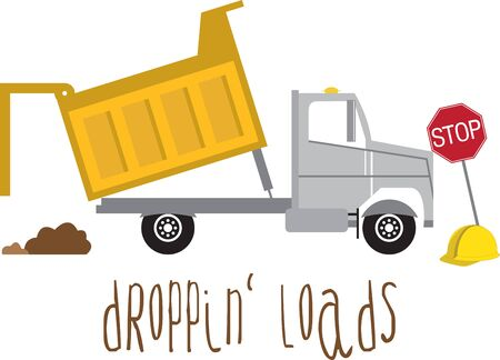 transporting: A dump truck is a truck used for transporting loose material for construction.
