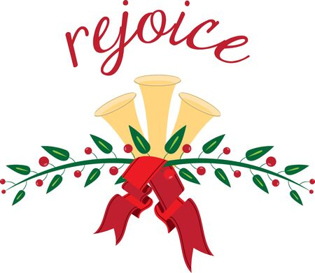 Holiday Bells is a fun holiday designed for making music and helping get into the holiday Ilustracja