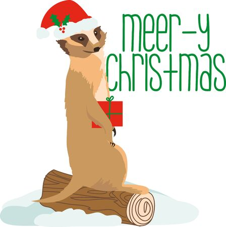 meerkat: This cute Meerkat is here to wish you a very happy Christmas. Celebrate the happiness