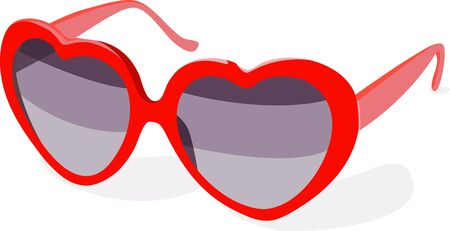 spectacle: You will look at the world with love with these fun Heart Shaped Valentine Glasses. Illustration