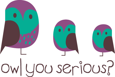 specially: Pick these Cute and funny Owls designs specially brought to you by Embroidery patterns Illustration