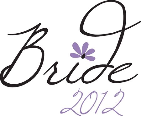 bridesmaid: Turn this simple design into a style statement.  The design will add sparkle to bridal shower projects.