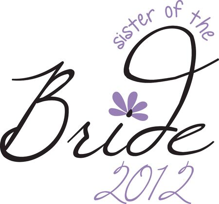 Turn this simple design into a style statement.  The design will add sparkle to bridal shower projects.